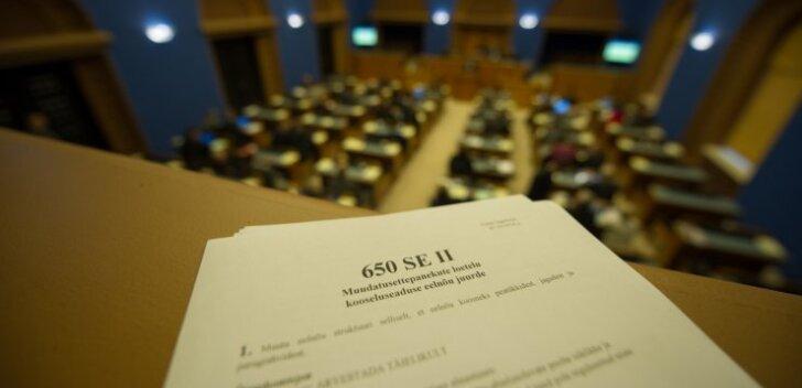 Kooseluseaduse eelnõu lugemine Riigikogus