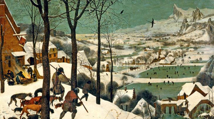 """""""Охотники на снегу"""" Брейгеля: скрытые символы знаменитой картины"""