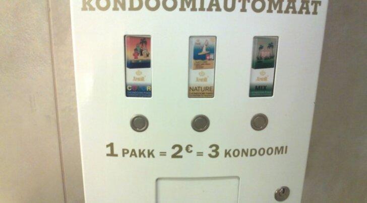 Videovalvega kondoomiautomaat Tasku tualetis