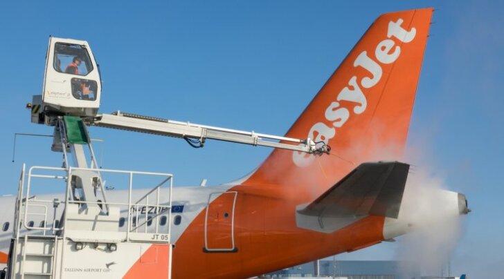 Lennukite jäätõrje Tallinna lennujaamas