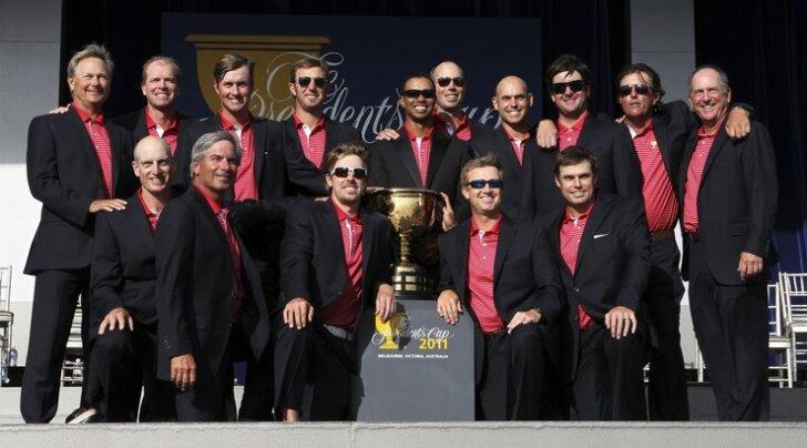 President Cup 2011 võidukas USA meeskond, golf