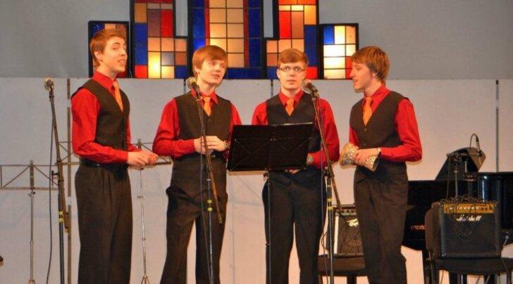 Üleriigilise kvartettide konkursi Grand Prix pälvisid Paide Ühisgümnaasiumi noormehed