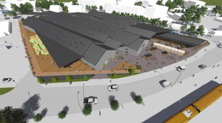 Tulevane Balti jaama turg. Vaade linnulennult Balti jaama poolt