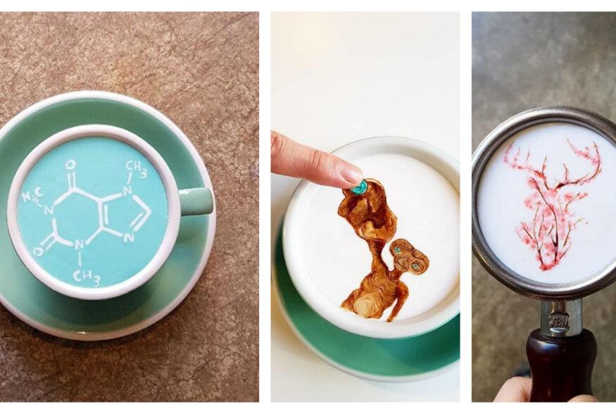 Latte art'i  maailmaklass: Lõuna-Korea barista maalib kohvile kõige imelisemaid pilte