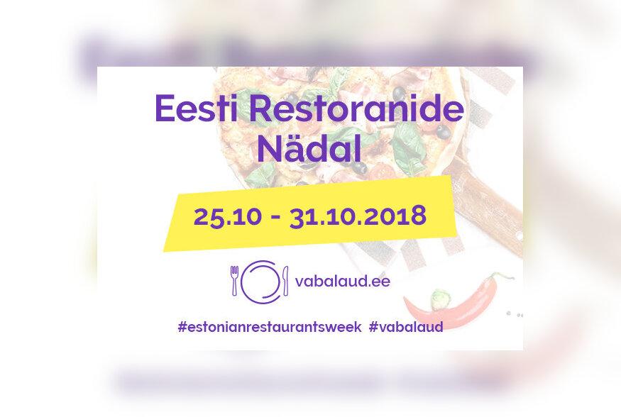 Eesti Restoranide Nädal toimub tänavu 25.-31.oktoober