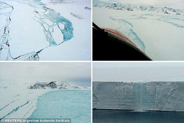 NASA предупредило овозникновении гигантского айсберга вокеане