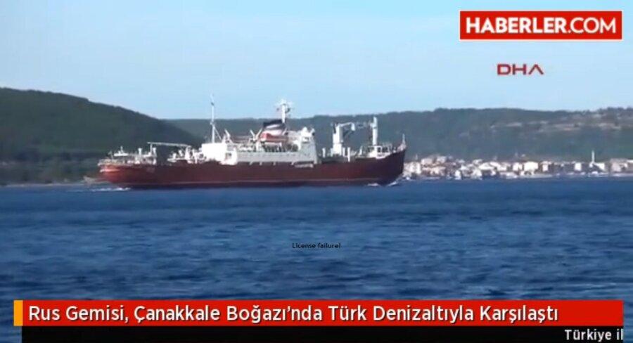 СМИ рассказали о встрече транспорта ВМФ России с турецкой подлодкой