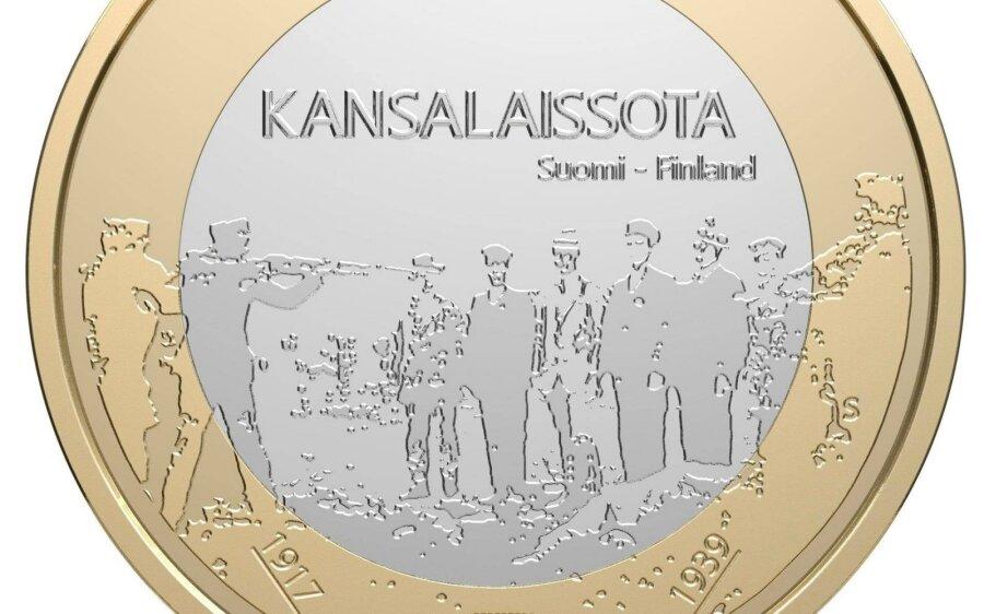 Выпущенную вФинляндии юбилейную монету срасстрелом изымают изобращения