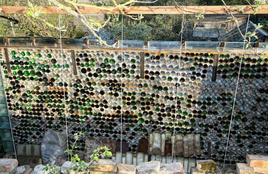 Стеклянный забор своими руками 87