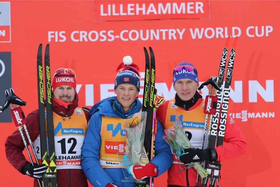 Русские лыжники вдвоём финишировали наподиуме наэтапе Кубка мира
