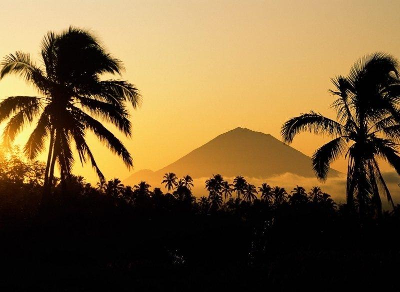 Туристов неоказалось врасположенной близ вулкана части Бали