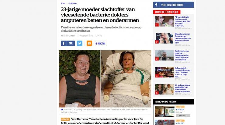 344668a6df8 Belgias kaotas 33-aastane naine lihasööjabakteri tõttu mõlemad käed ja jalad