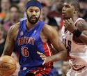 Detroit Pistonsi Rasheed Wallace ja Chicago Bullsi Tyrus Thomas
